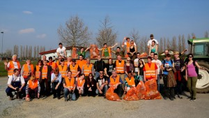 The whole Clean-Up team of Hohenau