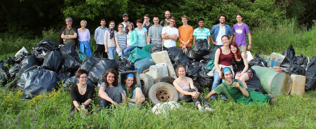 The whole team of the Danube Floodplains Clean-Up
